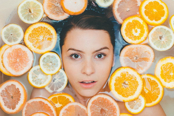skin care with fruits