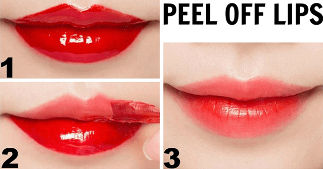 Peel Off Lip Tint with Food Color