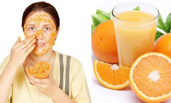 orange peel off face mask