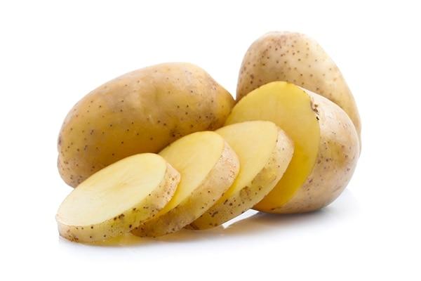 Raw potato for skin