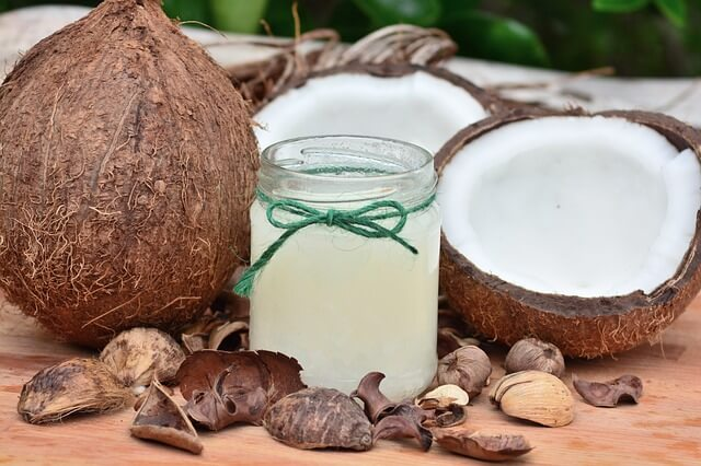 coconut oil- get rid of stretch marks