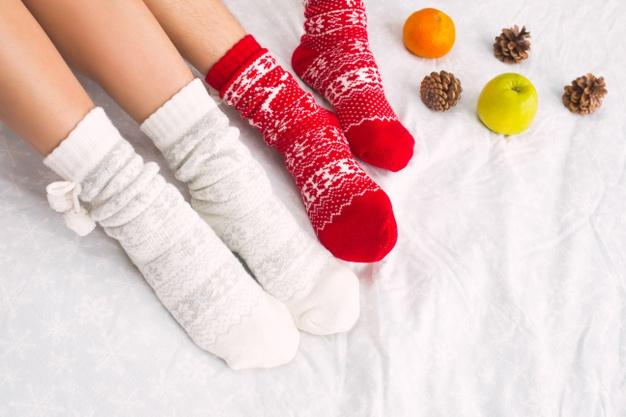 woolen socks in winter