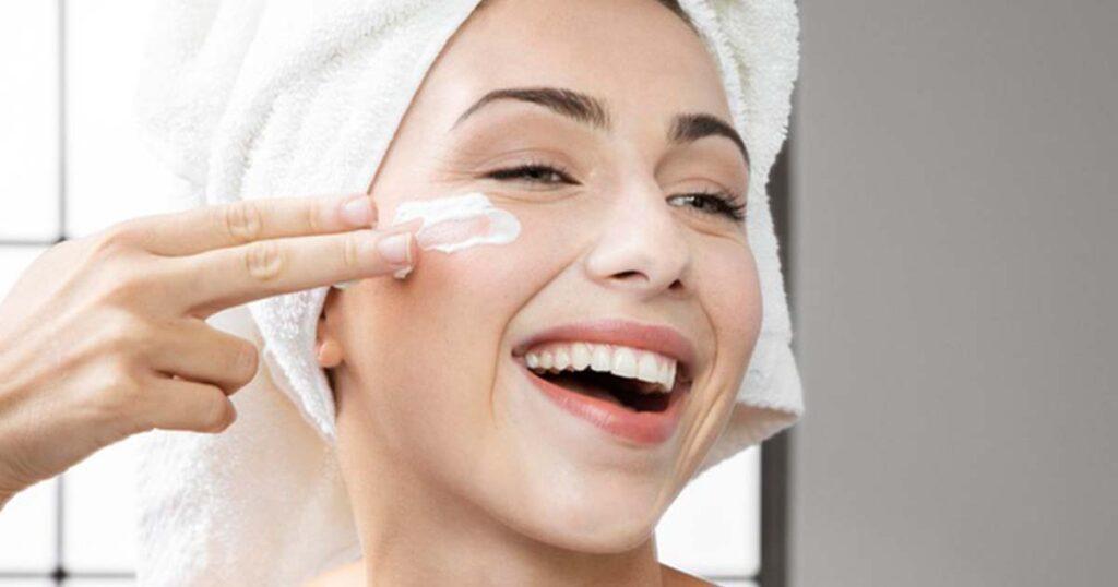 applying milk products on skin