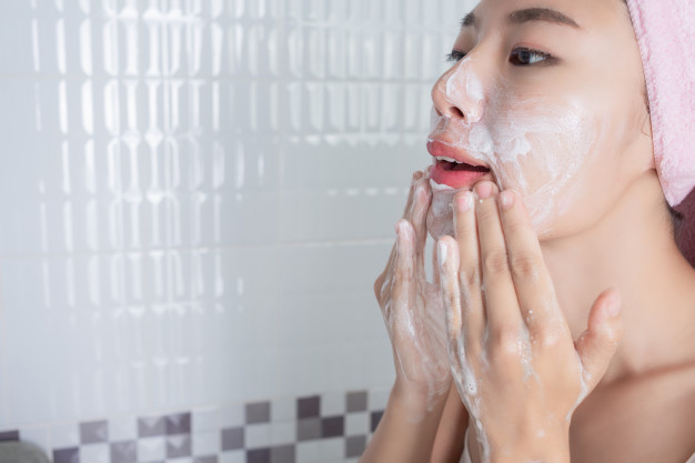 cleansing your face