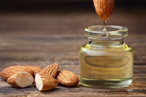 almond oil eye mask
