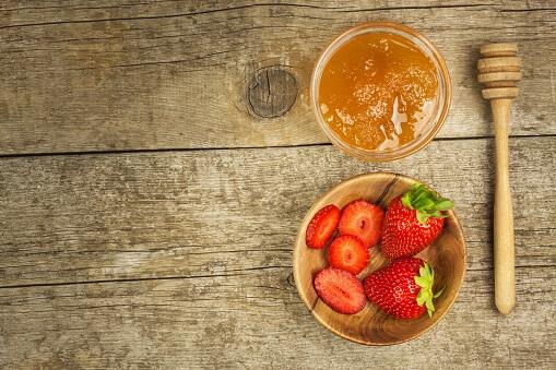 honey and strawberry