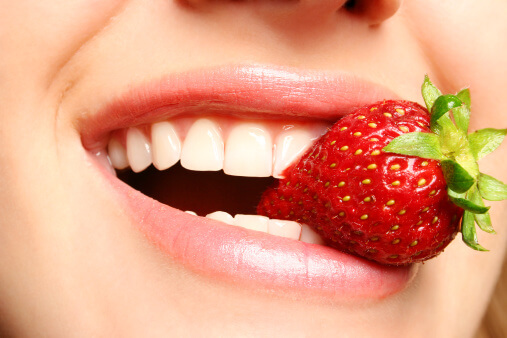 strawberry for teeth