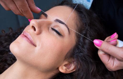 threading- remove facial hair